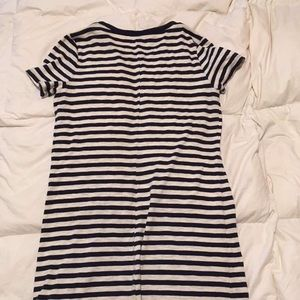 Black and white/grey stripped dress.